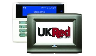 Intruder Alarm System with Touch Screen Keypads